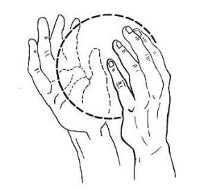 как ощутить энергию - положение рук